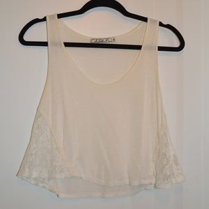 Chloe K Tops - Off-White Lace Tank Top